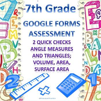 7th Grade Geometry (2) Google Forms Assessments