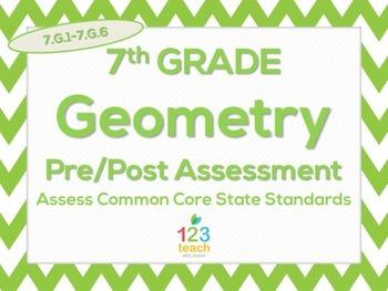 7th Grade Geometry (7.G.1-7.G.6) Common Core Test Assessment