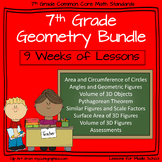 7th Grade Geometry - 9 week Comprehensive Unit of Geometry Standards