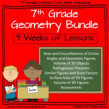 7th Grade Geometry - 9 week Comprehensive Unit of Geometry Standards