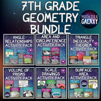 7th Grade Geometry Activity Bundle