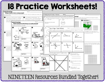 7th Grade Geometry -  Bundle of Resources
