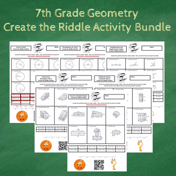 7th Grade Geometry Create the Riddle Activity Bundle