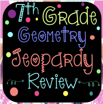 7th grade geometry jeopardy review gamemath maker | tpt, Powerpoint templates