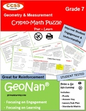7th Grade Geometry & Measurement Puzzle