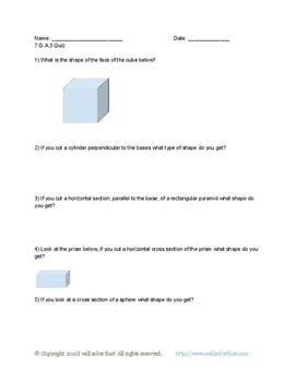 7th Grade Geometry Quiz Pack!