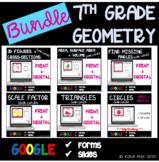 7th Grade Geometry Task Cards and Posters Bundle *Google D