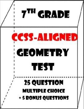 7th Grade Geometry Test