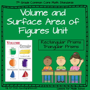 7th Grade Geometry: Volume and Surface Area of 3-D Objects
