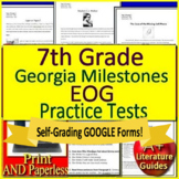 7th Grade Georgia Milestones Test Prep EOG Practice for GMAS Language Arts