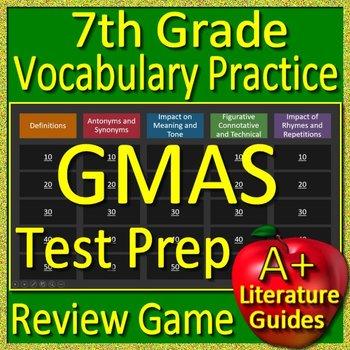 7th Grade Georgia Milestones Test Prep EOG Vocabulary Practice Review Game GMAS