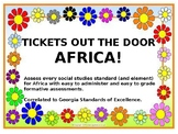 7th Grade Georgia Social Studies Africa History Exit Tickets