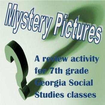 7th Grade Georgia Social Studies Mystery Pictures GA Milestones Review