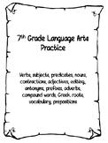 7th Grade Grammar Practice