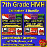 7th Grade HMH Collection 3: Nature at Work Bundle SELF-GRADING GOOGLE TESTS!