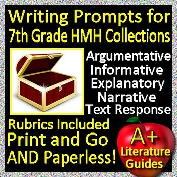 Writing Prompts for use with the 7th Grade HMH Collections and Close Reader HRW