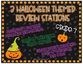7th Grade Halloween Review - 3 Math Stations