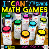 7th Grade I CAN Math Games BUNDLE   Test Prep Review