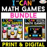 7th Grade I CAN Math Games   DIGITAL & PRINT Bundle