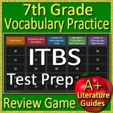 7th Grade ITBS Test Prep (Iowa Test of Basic Skills) Vocabulary Review Game