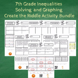 7th Grade Inequalities with Word Problems Create the Riddle Activity Bundle