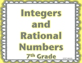 7th Grade Integers and Rational Numbers Word Wall