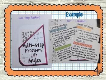 Seventh Grade Math Geometry Interactive Notebook Unit