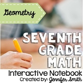 Seventh Grade Math Geometry Interactive Notebook Unit