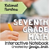 Seventh Grade Math Operations with Rational Numbers Interactive Notebook Unit