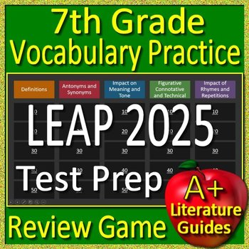 7th Grade LEAP 2025 Reading Test Prep Vocabulary Practice Review Game