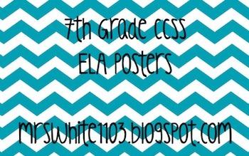 7th Grade Language Arts Common Core Posters (CCSS)
