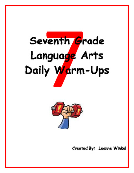 Ela Daily Warm Up Worksheets & Teaching Resources | TpT