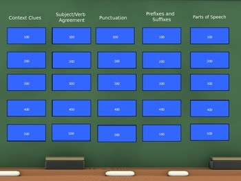 7th Grade Language Arts Jeopardy Review