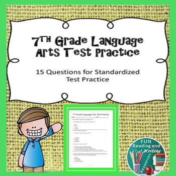 7th Grade Language Arts Practice Test