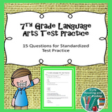 Test Prep: 7th Grade Language Arts Practice Assessment Distance Learning