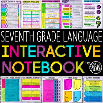 7th Grade Language Interactive Notebook  Grammar Interactive Notebook