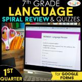 7th Grade Language Spiral Review Google Classroom Distance