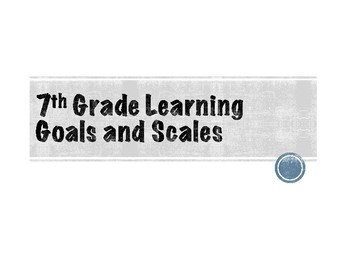 7th Grade Learning Goals and Scales