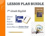 7th Grade English Annual Lesson Plan Bundle (Entire Year -