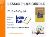 7th Grade English Annual Lesson Plan Bundle (Entire Year -