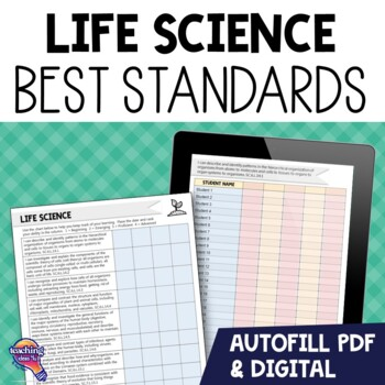 "7th Grade Life Science ""I Can"" Student Checklists Florida Standards"