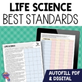 """7th Grade Life Science """"I Can"""" Student Checklists Florida"""