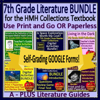 7th Grade Literature Bundle HMH Collections 4 Using the Textbook Google Ready