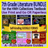 7th Grade Literature Bundle HMH Collections II Using the Textbook Google Ready