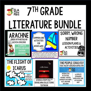 7th Grade Literature Bundle Using HMH Collections Textbook