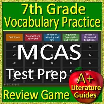 7th Grade MCAS Test Prep Vocabulary Practice Review Game