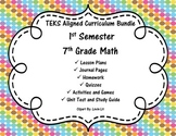 7th Grade Math - 1st Semester - Curriculum Bundle - TEKS