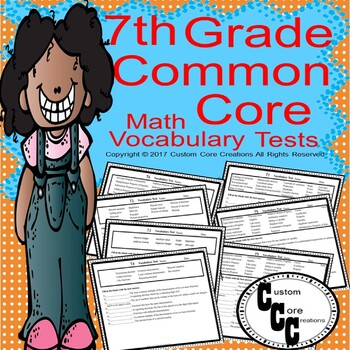 7th Grade Math Vocabulary Tests (Entire Year)
