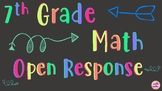 7th Grade Math 72 Extended and Short Response Questions