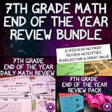 7th Grade Math Activities Bundle